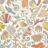 Ocean Pattern — Stock Vector