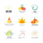 Yoga Logotypes Collection — Stock Vector