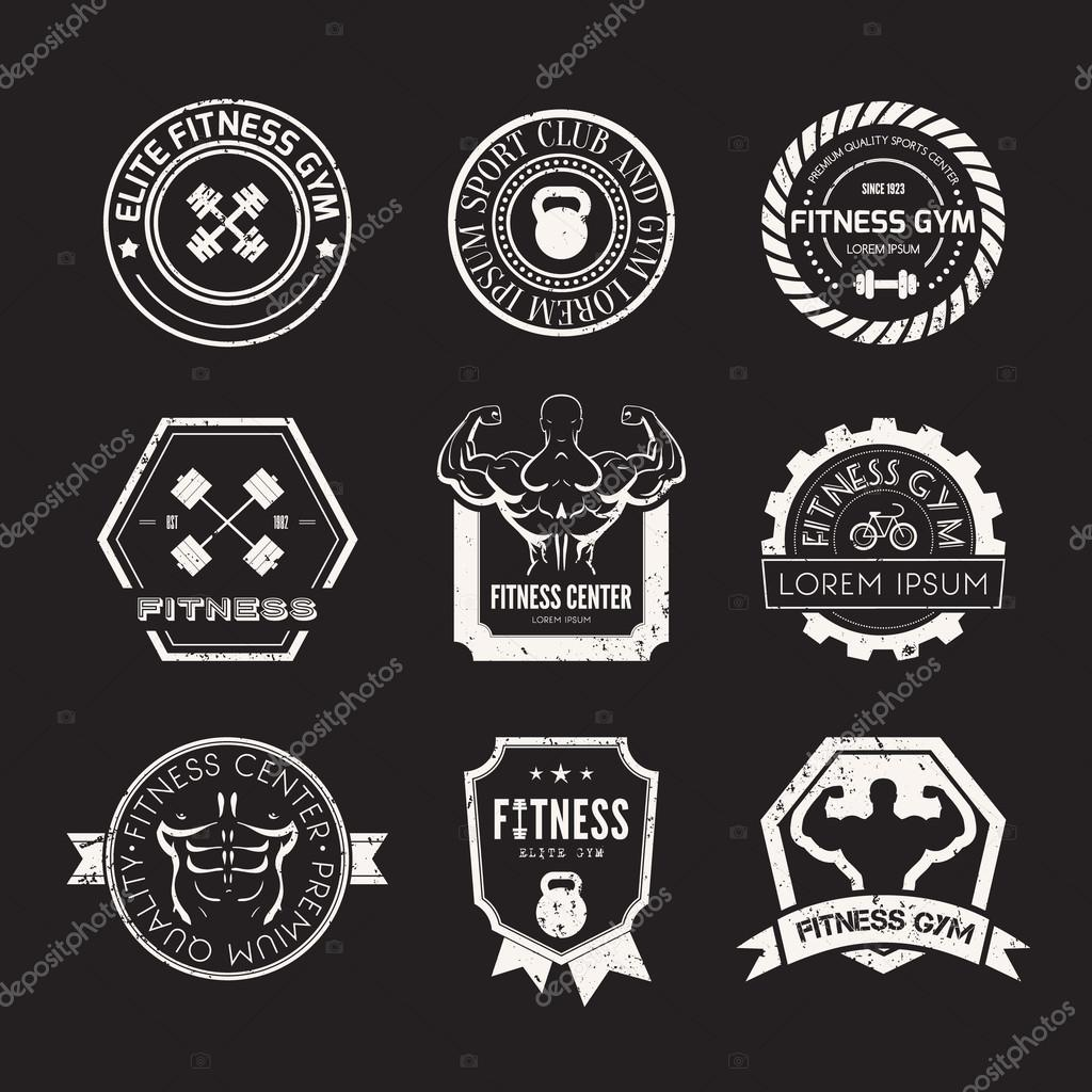 Gym Equipment Logo: Fitness And Sport Gym Logos