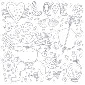 Valentines Day Doodle Collection — Stock Vector