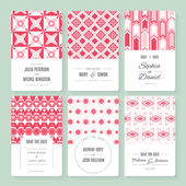 Save The Date collection — Stock Vector