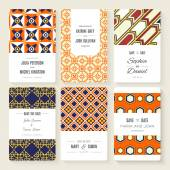Save The Date card collection — Stock Vector