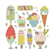 Ice Cream Collection — Stock Vector #66250125