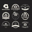 Collection of photography logo templates. — Stock Vector #66251065