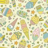 Patrón de helado — Vector de stock