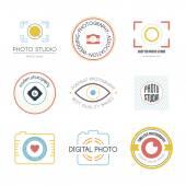Collection of photography logo templates. — Stock Vector