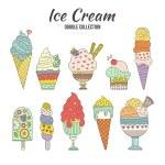 Hand drawn cartoon ice cream. — Stock Vector #69188167