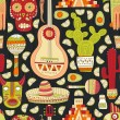 Mexico Seamless Pattern — Stock Vector #69188941