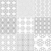 Seamless geometrical patterns. — Stok Vektör