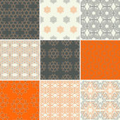 Seamless geometrical patterns. — Vector de stock