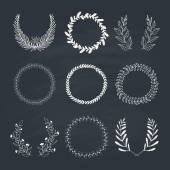 Laurels and Wreaths Collection — Stock Vector