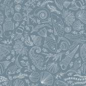 Hand drawn ocean pattern — Stock Vector