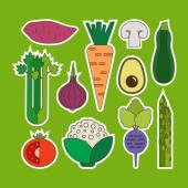 Collection of  vegetable Icons — Stock Vector