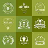 Set of golf club logo templates. — Stock Vector