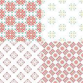 Four geometric seamless patterns. — Stock Vector