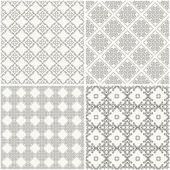 Seamless geometrical patterns — Stock Vector