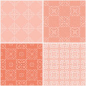 Seamless geometrical patterns. — Stock Vector