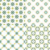 Geometric seamless patterns. — Stock Vector