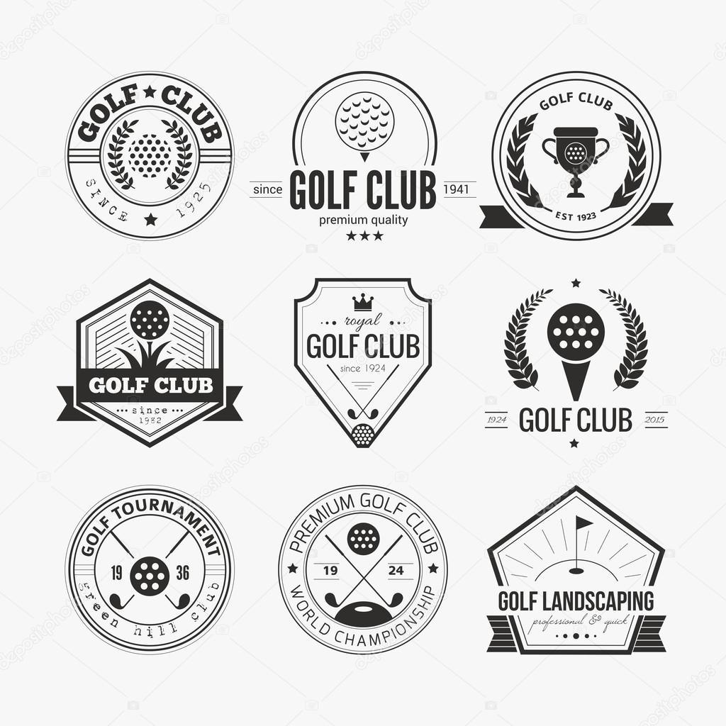 set of golf club logo templates � stock vector