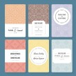 Set of perfect card templates. — Stock Vector #74200901