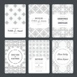 Set of perfect card templates. — Stock Vector #74200945