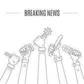Breaking News logo — Stock Vector