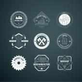Lumberjack Logos set — Stock Vector