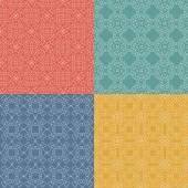 Ornamental geometrical patterns. — Stock Vector