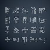 Collection of vector house repair icons — Stock Vector