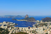 Sugarloaf mountain sky without clouds Guanabara bay — Stock Photo