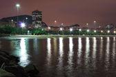 Night view of beach Flamengo, Guanabara bay,  Rio de Janeiro, Br — Foto Stock