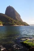 Mountain Sugarloaf from red beach (Praia Vermelha), Rio de Janei — Foto Stock