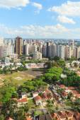 Downtown city center, buildings, hotels from tv tower, Curitiba, — Stock Photo