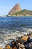 Mountain Sugarloaf from Park Flamengo, Rio de Janeiro Brazil — Fotografia Stock