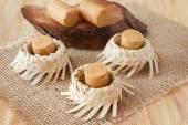 Pacoca - brazilian candy of ground peanut — Stock Photo