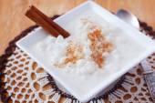 Brazilian dessert canjica of white corn — Stock Photo