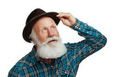 Old man with a long beard — Stock Photo
