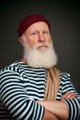 Handsome sailor isolated. Seaman.   — Stock Photo
