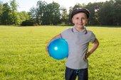 Boy children playing ball — Stock Photo