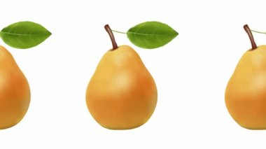 Pear on a white background. diet — Stock Video