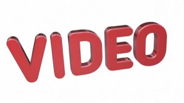 Animated inscription - Video. 3d — Stock Video