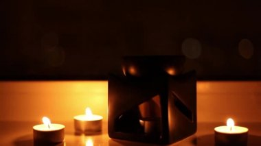 Aroma lamp and candles — Vidéo