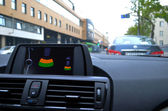 On-board computer inside BMW 1-series — Stock Photo