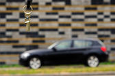 Gold key for BMW 1-series — Stock Photo