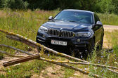 BMW X6 M50d at the test drive — Stock Photo