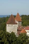 Tallinn Old city towers — Stock Photo