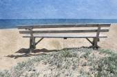 Beach on Martha's Vineyard — Stock Photo