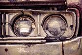 Retro old car headlight — Stock Photo