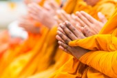 Pray for faith in Buddhism — Stockfoto