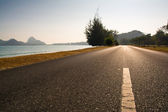 Beach road — Stock Photo